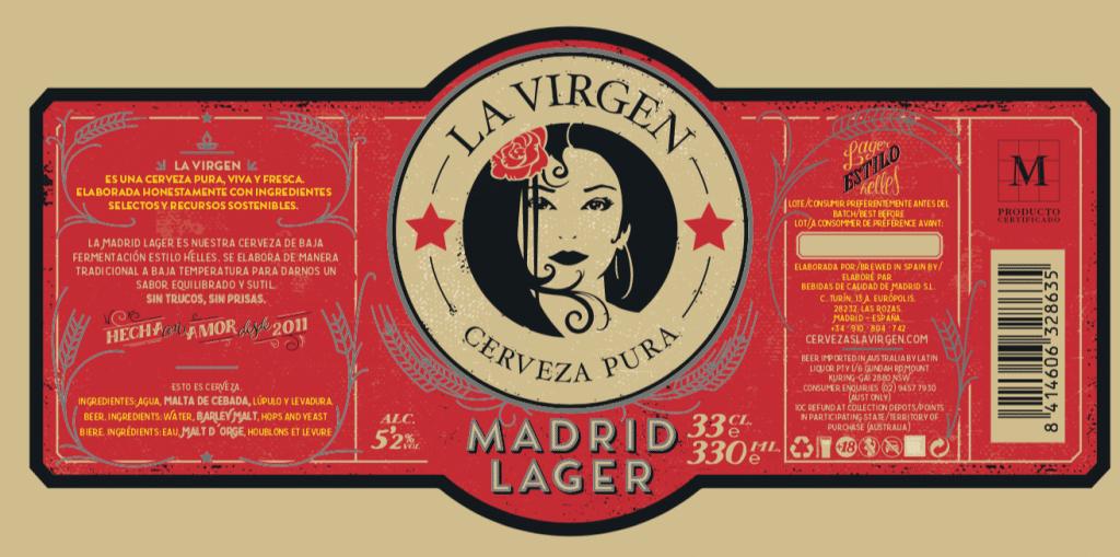 César Pascual Cervezas La Virgen